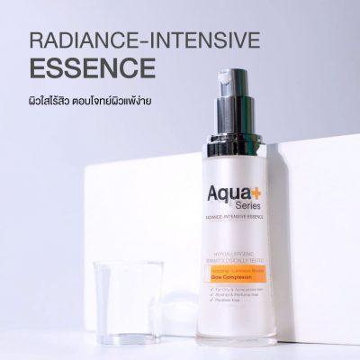 ดูเเลผิวหน้าให้ขาวใสด้วย เอสเซ้นส์ หน้ามัน ผิวเเพ้ง่าย-AquaPlus Radiance-Intensive Essence