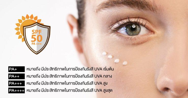Sunscreen ครีมกันแดด รีวิวครีมกันแดด PA UVA UVB ผิวแพ้ง่าย ผิวเป็นสิว